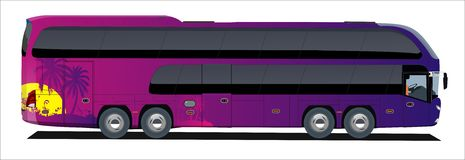 Tropic bus trip royalty free illustration