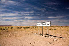 Tropic of Capricorn Stock Image