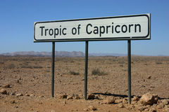 Tropic of Capricorn stock photos
