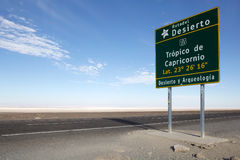 Tropic of Capricorn, Chile Royalty Free Stock Image