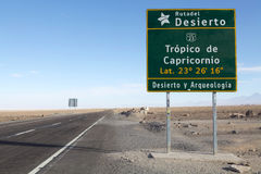 Tropic of Capricorn, Chile Royalty Free Stock Photos