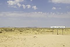 Tropic of Capricorn, Namibia Royalty Free Stock Image