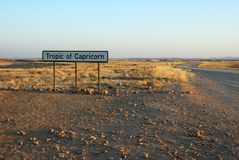 Tropic of Capricorn, Namibia royalty free stock images