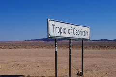 Tropic of Capricorn Stock Photography