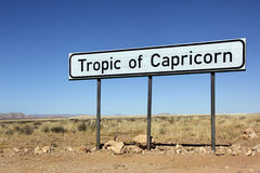 Tropic of Capricorn Sign - Namibia Stock Photos