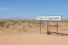Tropic of Capricorn sign Royalty Free Stock Photos