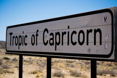Tropic of Capricorn signboard Royalty Free Stock Images
