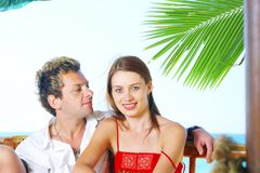 Tropic couple Royalty Free Stock Photo