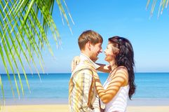 Tropic couple Royalty Free Stock Images