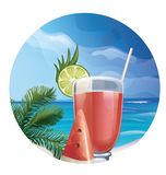 Tropic exotic cocktail Royalty Free Stock Photography