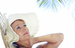 Tropic face Stock Image
