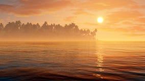 Tropic Fantasy Paradise Background Royalty Free Stock Images