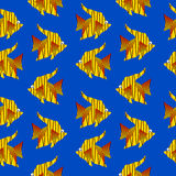 Tropic fish seamless pattern Royalty Free Stock Images
