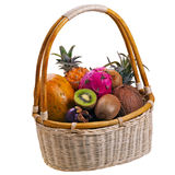 Tropic fruits in basket Royalty Free Stock Image