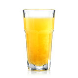 Tropic fruits fresh and healthy juice in a tall glass isolated. On white. Bar concept Royalty Free Stock Images