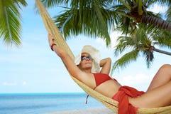 Tropic hammock Royalty Free Stock Photos