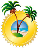 Tropic island logo Stock Photo