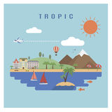 Tropic landscape Stock Images