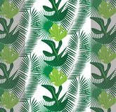 Tropic leaves pattern background. Vector Stock Image