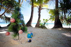 Tropic New Year, celebration on vacation. Stock Image