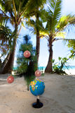 Tropic New Year, celebration on vacation. Royalty Free Stock Images