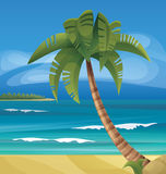 Tropic ocean island landscape Royalty Free Stock Images