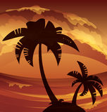 Tropic ocean island lanscape Stock Images