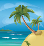 Tropic ocean island lanscape Royalty Free Stock Image