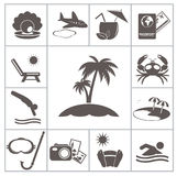 Tropic resort icons Royalty Free Stock Image