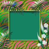 Tropic scrapbook page Stock Image