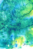 Tropic sea. Abstract watercolor background Royalty Free Stock Photos
