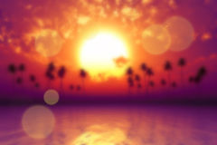 Tropic sea blurred Royalty Free Stock Photography