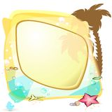 Tropic sea speech bubble Stock Photo