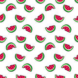Tropic seamless pattern in cartoon trendy style. Stock Photo