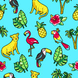 Tropic seamless pattern. Stock Photography