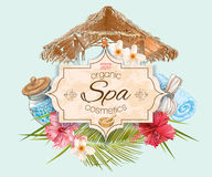Tropic style spa banner Royalty Free Stock Photography