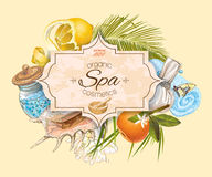 Tropic style spa banner Royalty Free Stock Photos