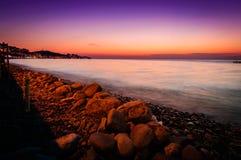 Tropic Summer Sunset Shoreline Royalty Free Stock Photo