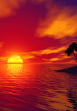 Tropic sunset Stock Photography