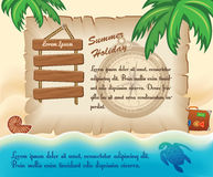 Tropic Travel Template Stock Photography