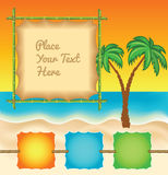 Tropic Travel Template Stock Images
