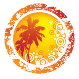 Tropical abstract background. Abstract  illustration of orange tropical  background Royalty Free Stock Image