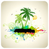 Tropical abstract background Royalty Free Stock Image