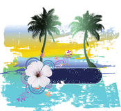 Tropical Abstract Background. Vector Illustration stock illustration