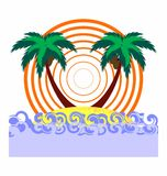 Tropical abstract background Royalty Free Stock Images