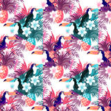 Tropical Abstract Background Vector Stock Photo