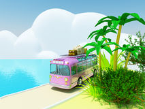 Tropical adventure by bus Stock Images