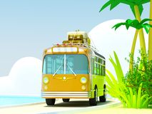 Tropical adventure by bus Stock Photos