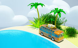 Tropical adventure by bus Royalty Free Stock Photography