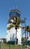 Tropical airport tower Royalty Free Stock Photos